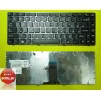 Клавиатура для ноутбука Lenovo B470 G470 V470 Z470 G470 G470G G470AH G470GH G475 серая с чёрными кно