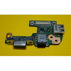 USB board для DELL INSPIRON 15R N5110 M5110 DC POWER JACK PORT VGA USB IO BOARD DC JACK PJ449 с разб