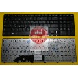 Клавиатура для ноутбука Samsung NP350E7C чёрная, с русскими буквами V134302BS1 PK130RW1A02