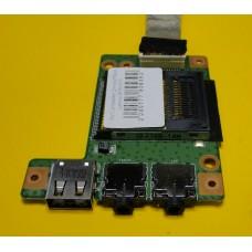 б/у Cardreader для ноутбука Lenovo B560 P/N 55.4JW03.001 с кабелем P/N 50.4JW02.001