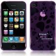 Панель, бампер для iPhone 4 (эластичная, фиолетовая) BI0307