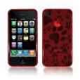 Панель, бампер для iPhone 4 (эластичная, красная) BI0305