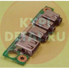 б/у USB плата с разъемами audio для ноутбука DNS M771S 6-71-M74SA-D03A