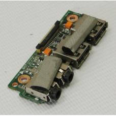 б/у USB плата с разъемами audio для ноутбука ASUS K43S 60-N3RIO1000