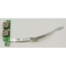 б/у USB плата для ноутбука eMachines E728 DA0ZR6TB6E0 + шлейф