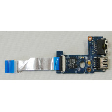б/у USB плата для ноутбука Lenovo B570 (USB+LAN+шлейф) 55.4IH06.011G