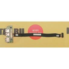 б/у USB плата для ноутбука DNS C5500Q C5501Q 6-71-C4508-D02A + шлейф 6-43-E51Q0-031