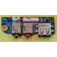б/у USB плата для ноутбука IRU W255CU с аудио-разъемами 6-71-W24C8-D02 GP