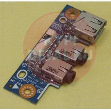 б/у USB плата для ноутбука ASUS K53U X53U LS7322P + AUDIO разъемы