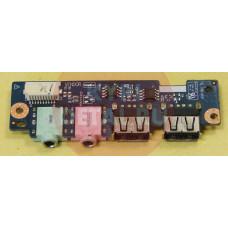 б/у USB плата с AUDIO разъемами для ноутбука DNS (0127275) LS-6001P