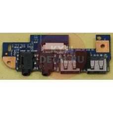 б/у USB плата для ноутбука E-Machines D440 48.4GW02.031 с аудио-разъемами