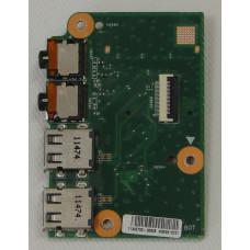 б/у USB плата для ноутбука DNS A15HC с аудио-разъемами 08N2-14U4G00 REV.2.0