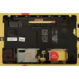 б/у Корпус для ноутбука Packard bell TM81 TM86 нижняя часть (поддон) AP0CB000400 повреждено левое кр