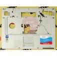 б/у Корпус для ноутбука RoverBook W500L палмест +тач, цвет серебряный,  P/N 24-46393-XX