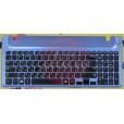 б/у Корпус для ноутбука Samsung NP355V5C палмест с клавиатурой 9Z.N4NSC AP0RS000800 цвет голубой