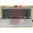 б/у Корпус для ноутбука Samsung NP530U4C топкейс (палмрест) + тач BA75-04038M цвет серый