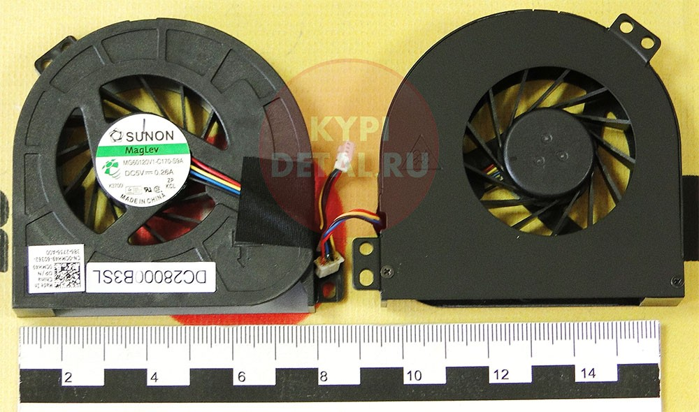 Вентилятор для ноутбука DELL Precision M4700 M4800 (для GPU) p/n:  KSB0605HC-BK1K, MG60120V1-C170-S9A