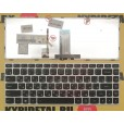Клавиатура для ноутбука Lenovo G40-30, G40-70 , серебряная, с русскими буквами, с подсветкой P/N 252