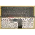 Клавиатура для ноутбука DNS W550 без рамки, большой ENTER чёрная , с русскими буквами
