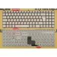 Клавиатура для ноутбука DNS M1100 белая, без рамки, с русскими буквами, MP-081463U-4301, 6-80-W76SO-