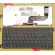 Клавиатура для ноутбука Lenovo flex 10 чёрная, с русскими буквами P/N 25210801 MP-12U13US-686