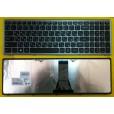 Клавиатура для ноутбука Lenovo flex 15 серая, чёрные кнопки (для Win8) T6E1-RU 9Z.NAFSU.A0R 25213042
