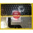 Клавиатура для ноутбука Dell Inspiron 14Z-5423 14Z-3360 чёрная глянцевая, с русскими буквами (для wi