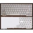 Клавиатура для ноутбука Packard Bell 7321, 7521, 6020, 6021 серая, с русскими буквами K98238S1 53102