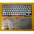 Клавиатура для ноутбука Sony SVE13 SVS13 серебряная, с русскими буквами, без рамки