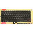 """Клавиатура Apple MacBook Pro A1278 13"""" большой Enter, чёрная, с русскими буквами"""