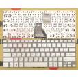 Клавиатура для ноутбука Sony FIT 14E серебряная, с русскими буквами, без рамки P/N 149238581RU AEGD5