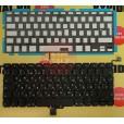 """Клавиатура Apple MacBook Pro A1278 13"""" большой Enter, чёрная, с русскими буквами, с подсветкой"""