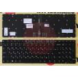Клавиатура для ноутбука Lenovo 310-15IBR черная, с подсветкой, с русскими буквами