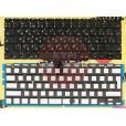 """Клавиатура Apple MacBook A1370 A1465 11.6"""" чёрная, большой Enter, с подсветкой, с русскими буквами"""