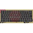Клавиатура для ноутбука MSI U135 U135DX U160 U160DX Series. черная, рамка бронзовая, с русскими букв