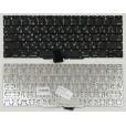 """Клавиатура Apple MacBook A1370, A1465 плоский Enter 11.6"""" чёрная, с русскими буквами 2010 год"""