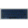 б/у Клавиатура для ноутбука Lenovo Z370 Z470 синяя, чёрные кнопки, с русскими буквами P/n: 25-012960