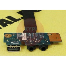 б/у USB плата для ноутбука Asus X53B PBL50/60 LS7322P+AUDIO разъемы+шлейф DC02001AP00
