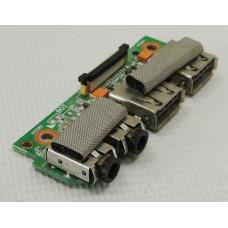б/у USB плата с разъемами audio для ноутбука ASUS K43S 60-N3UIO1000