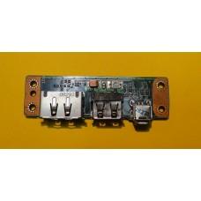 б/у Плата с USB разъемами Packard Bell Steele GP P/N 08G2011HV20Q NS1Q89H028